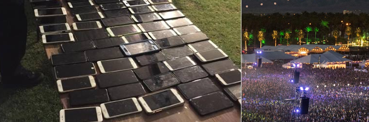 Man who stole 100+ iPhones at Coachella scuppered by 'Find My Phone'