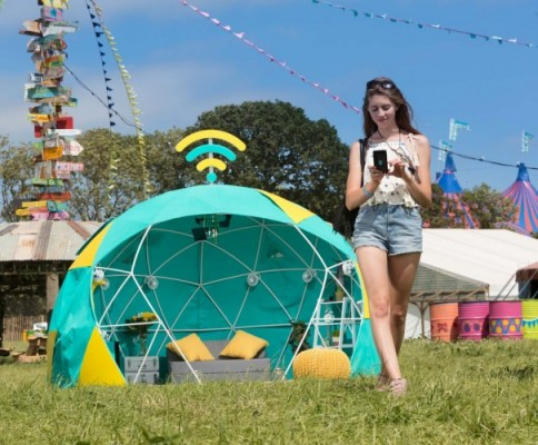 EE just ruined Glasto with this 4G smart tent 1