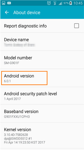 How to check which version of Android you have 6