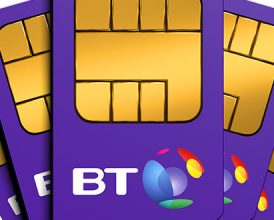 Last 24 hours: £40, £70, £90 gift card with BT SIM Only