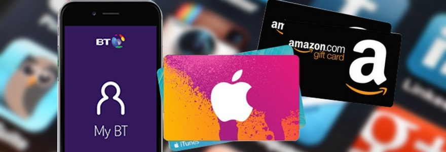 £35/£65/£100 Amazon or iTunes gift card with BT SIM