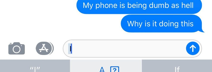 iPhone iOS bug: Update means users can't type 'I' 1