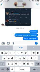iPhone iOS bug: Update means users can't type 'I' 2
