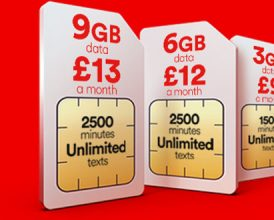 Triple data deals on Virgin SIM Only - £13 for 9GB