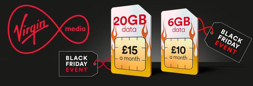 Virgin Black Friday deals: Triple data, 15GB for £20