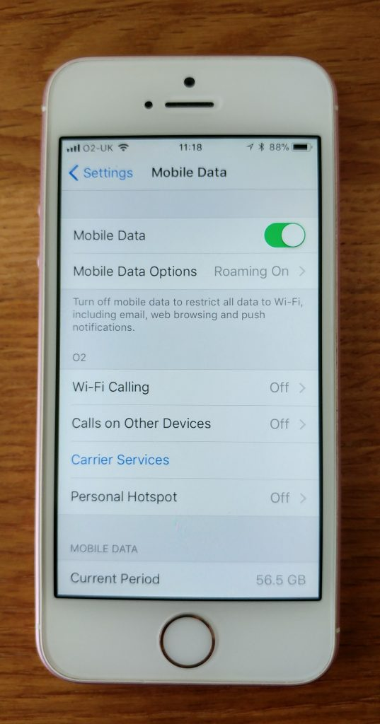 How to check how much data you've used on iOS