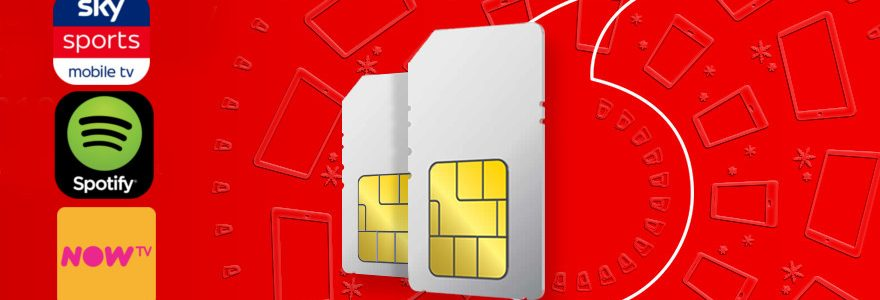 Vodafone SIM Only deals: 8GB for £18, 12 months free Spotify, NowTV, Sky
