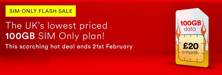 Huge Virgin SIM Only deal: 100GB for £20