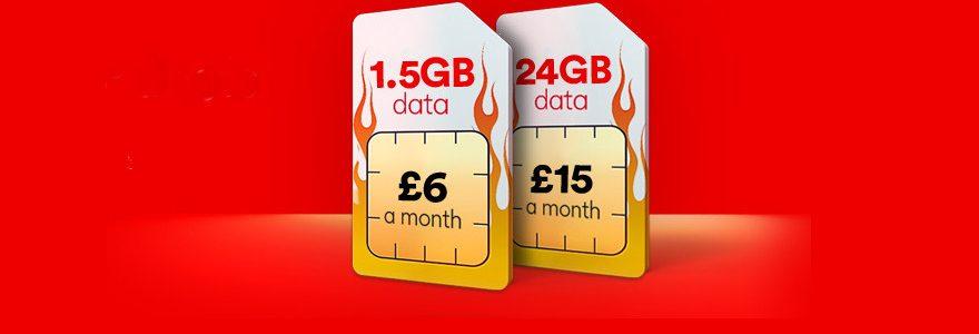 Virgin triples data on cheap SIM Only deals
